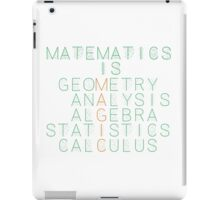 Matematics is magic iPad Case/Skin