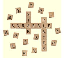Star Scrabble Player Photographic Print