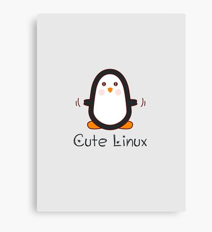 Cute Linux Canvas Print
