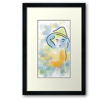 Girl wearing a hat - soft painting 009 Framed Print