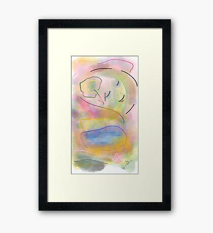 Girl in the sky - Soft Painting 012 Framed Print