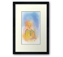 Girl - Soft Painting 014 Framed Print