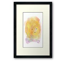 Girl - Soft Painting 017 Framed Print