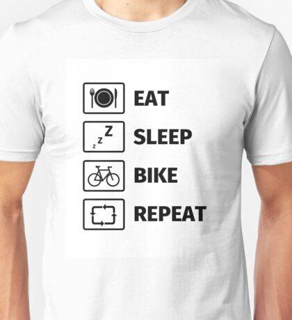 Eat Sleep Bike Repeat Unisex T-Shirt