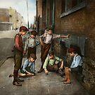 Kids - Cincinnati OH - A shady game 1908 by Mike  Savad