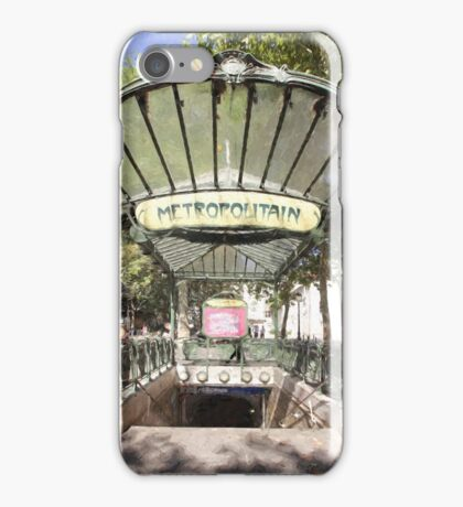 Abbesses Metro iPhone Case/Skin