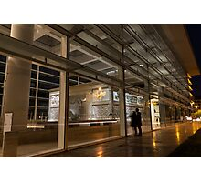 The Marvels of Rome - Admiring Ara Pacis at Night Photographic Print