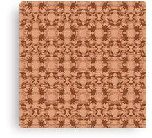 Copper Faux Lace Pattern Canvas Print