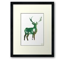 Master of the Forest - Silhouette Framed Print