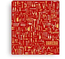 """Car repair tool, design for petrolheads """"red"""" Canvas Print"""