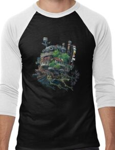 Howl's moving castle 8-bit <3 Men's Baseball ¾ T-Shirt