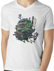 Howl's moving castle 8-bit <3 Mens V-Neck T-Shirt