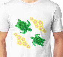 Honu And Hibiscus Unisex T-Shirt