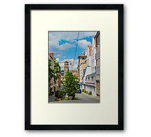 Street scene, Stuttgart Framed Print
