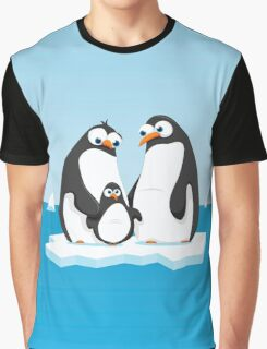 Penguin Family Graphic T-Shirt