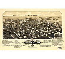 Bird's eye view of Greeley Colorado (1882) Photographic Print
