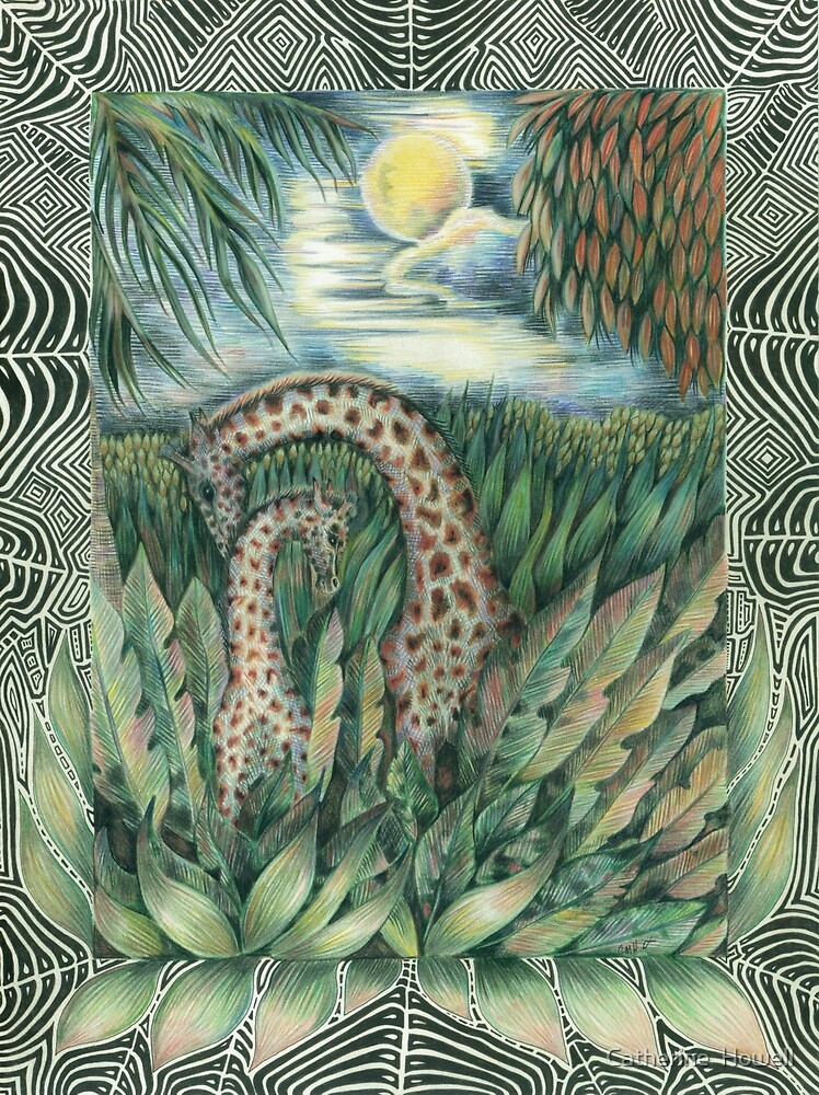 Forest Giraffes by Catherine  Howell
