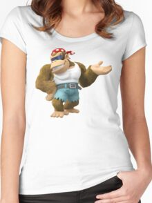 Funky Kong, Donkey Kong Women's Fitted Scoop T-Shirt