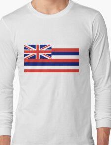 Hawaii State Flag Long Sleeve T-Shirt