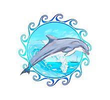 Dolphin Maori Sun Photographic Print