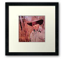 Garth Brooks Vintage Framed Print