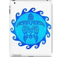 Blue Maori Sun Turtle iPad Case/Skin