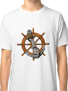 Captain's Wheel And Anchor Classic T-Shirt