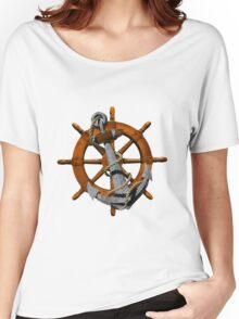 Captain's Wheel And Anchor Women's Relaxed Fit T-Shirt