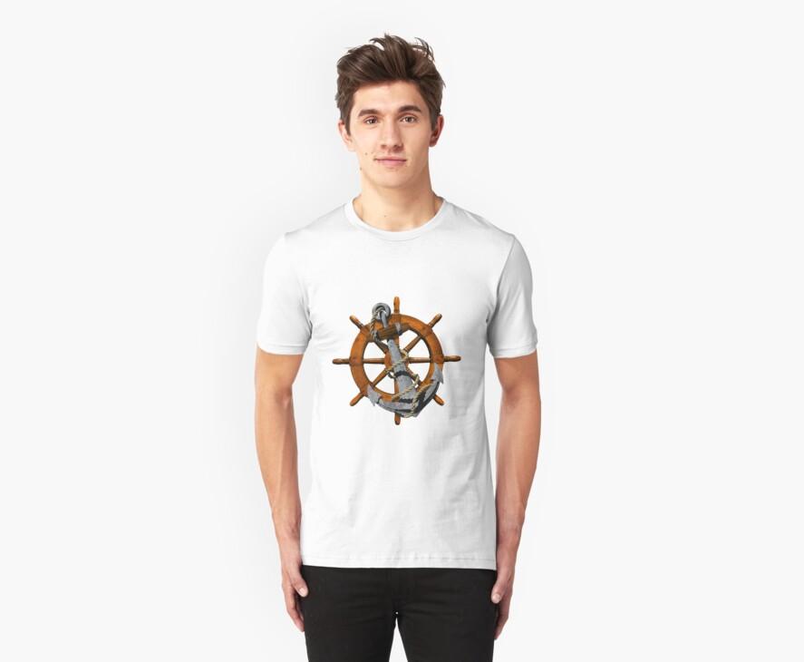 Captain's Wheel And Anchor by BailoutIsland
