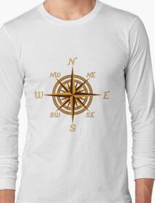 Vintage Compass Rose Long Sleeve T-Shirt