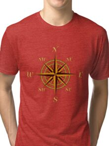 Vintage Compass Rose Tri-blend T-Shirt
