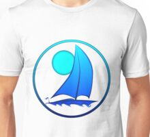 Blue Sailboat Unisex T-Shirt