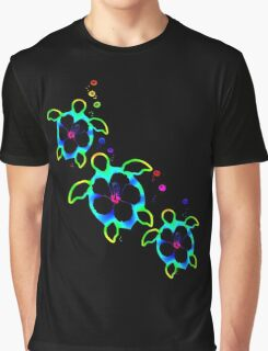 Tie Dyed Honu Turtles Graphic T-Shirt