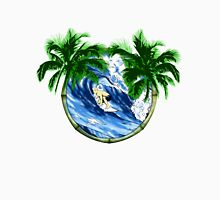 Surfer And Palm Trees Unisex T-Shirt