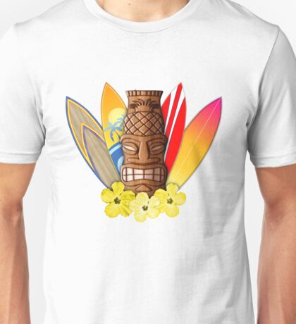 Surfboards And Tikis Unisex T-Shirt