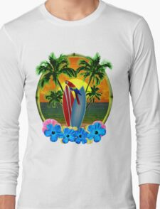 Parrot And Surfboards Long Sleeve T-Shirt