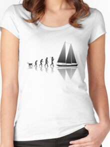Sailing Evolution Women's Fitted Scoop T-Shirt