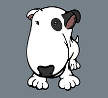 Blabla Black Eye Patch Cartoon Bull Terrier by Sookiesooker