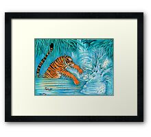Games Tigers Play Framed Print