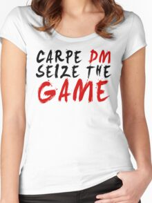 Carpe DM, Seize The Game - Dungeons & Dragons Women's Fitted Scoop T-Shirt