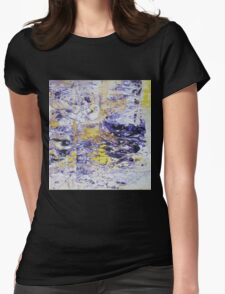 Path to the Light - Original Wall Modern Abstract Art Painting Original mixed media Womens Fitted T-Shirt