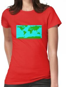 THE WORLD'S GREATEST PLANET ON EARTH Womens Fitted T-Shirt