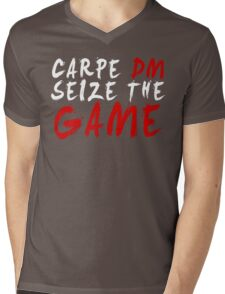 Carpe DM, Seize The Game - Dungeons & Dragons (White) Mens V-Neck T-Shirt