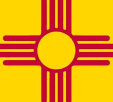 New Mexico flag Colorado outline Sticker