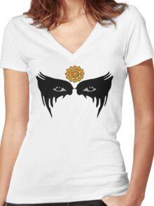 Commander Lexa - Eyes Women's Fitted V-Neck T-Shirt
