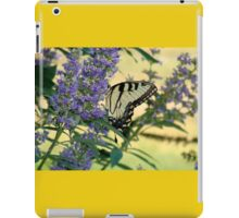 Tiger Swallowtail On Chaste Tree Number 2 iPad Case/Skin