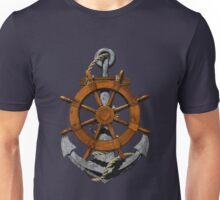 Nautical Ships Wheel And Anchor Unisex T-Shirt