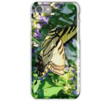 Tiger Swallowtail On Chaste Tree iPhone Case/Skin