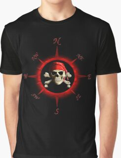 Pirate Compass Rose Graphic T-Shirt