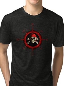 Pirate Compass Rose Tri-blend T-Shirt
